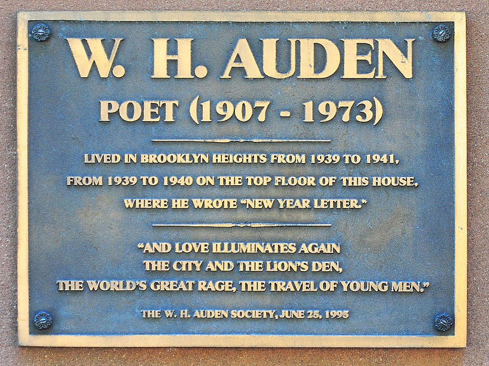 Plaque to W.H. Auden, Brooklyn Heights 01 (9420506021)