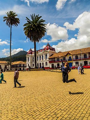 Central square of Zipaquirá