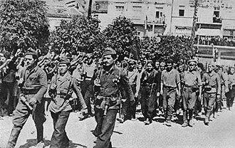 1944 Bulgarian coup d'état - Partisans entering Plovdiv, 9 September 1944