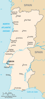 List Of Twin Towns And Sister Cities In Portugal Wikipedia - Portugal map with cities