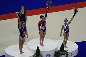 Podium of 2009WAGC Female Vault.JPG
