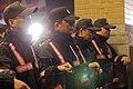 Policemen barricade the front entrance of the Legislative Yuan (立法院).jpg