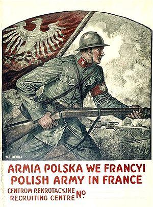 Władysław T. Benda - WWI recruitment poster Polish Army in France created by Władysław Benda