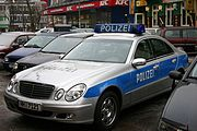 German Mercedes-Benz police car, Hamburg