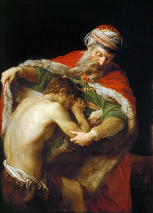 Parable of the Prodigal Son - The Return of the Prodigal Son (1773) by Pompeo Batoni