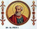 Pope St Pius I of Rome 142-155.jpg