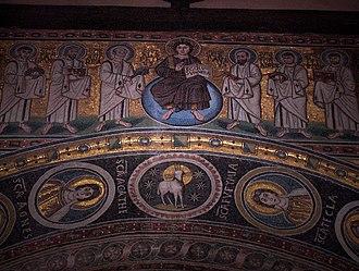 Euphrasian Basilica - Christ and the twelve Apostles.