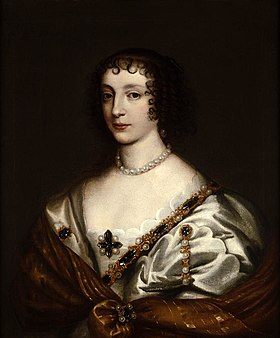 Portrait of Henrietta Maria (1609-1669), Queen of England, consort of Charles I from the studio of Sir Anthony Van Dyck.jpg
