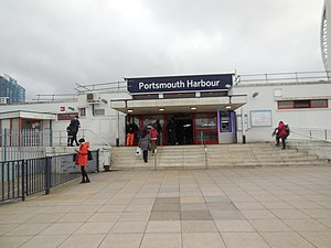 Portsmouth Harbour railway station - The station entrance (February 2014)