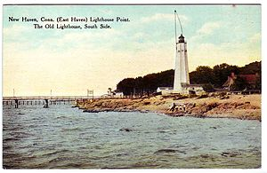 Five Mile Point Light - Postcard, about 1912