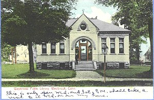 Westbrook, Connecticut - Town library, about 1906