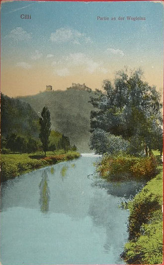 Voglajna - Postcard of the Voglajna in Celje