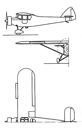 Potez 43 - Potez 43 3-view drawing from L'Aerophile Salon 1932