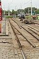 Praha, Řepy, Sídliště Řepy, rekonstrukce tramvajové konečné, odstranění kolejí II.JPG