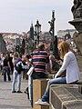 Praha, Karlův most, lidé 01.jpg