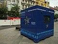 Praha, Nové Město, Václavské náměstí, předvolební kampaň, EUbudka.JPG