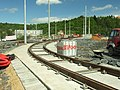 Praha, Troja, Trojská, přeložka tramvajové trati.JPG