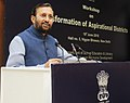 Prakash Javadekar addressing the District Education Officers, DIETs, SCERTs, State Nodal Officers and Central Ministries, at the workshop on Transformation of Aspirational Districts, in New Delhi.JPG