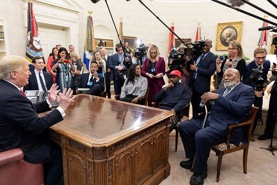 President Donald Trump and Kanye West 2018-10-11