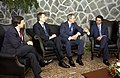 President George W. Bush, Prime Minister Jose Manuel Durao Barroso, Prime Minister Tony Blair, and Prime Minister Jose Maria Aznar.jpg