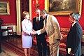 President George W. Bush and Mrs. Laura Bush Greet Bill Cosby.jpg