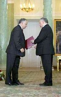 President Kaczyński and PM Kaczyński.jpg