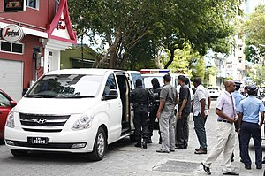 Mohamed Nasheed - Nasheed takes refuge at Indian Embassy