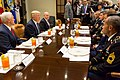 President Trump, Vice President Pence, and National Security Adviser Lt. Gen. H.R. McMaster have lunch with Service Members, July 18, 2017.jpg