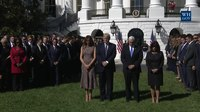 File:President Trump and The First Lady Lead a Moment of Silence.webm