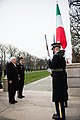 President of Italy lays a wreath at the Tomb of the Unknown Soldier in Arlington National Cemetery (24853235006).jpg