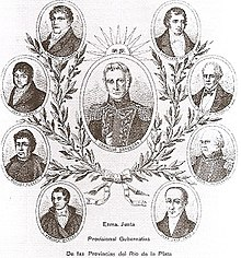 Allegoric images of the members of the Primera Junta