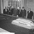 Prins Bernhard opende golfstromingslaboratorium te Wageningen, de Prins tijdens , Bestanddeelnr 917-8666.jpg