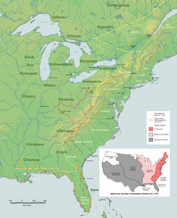 Indian Reserve Wikipedia - Map of us 1763