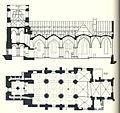 Propsteikirche Brilon, Grundriß und Längsschnitt vom Anfang des 20. Jahrhunderts.jpg