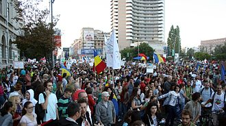 Politics of Romania - The 2013 protests against the Roșia Montană Project turned into an anti-government social movement.