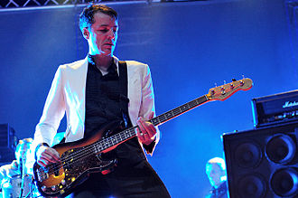 Pulp (band) - Bassist Steve Mackey performing with Pulp at On the Bright Side in Perth in 2011.