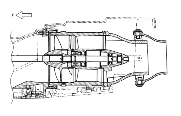 Schematic pump-jet