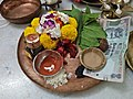 Pushpa Patra With Dakhhina - Kojagari Lakshmi Puja Offering - Bengali Brahman Family - Howrah 20171005173318.jpg
