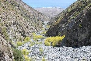 Paposo - Quebrada de Medano, 18 km north of Paposo, the Pacific Ocean in the distance.