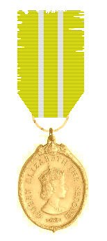 Queen's Medal for Chiefs in Gold