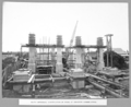 Queensland State Archives 3668 South approach construction of piers of concrete girder spans Brisbane 2 June 1936.png