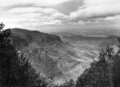 Queensland State Archives 436 Looking east from Bithongabel Lookout Lamington National Park towards Mount Hobwee and the Tweed River valley September 1933.png