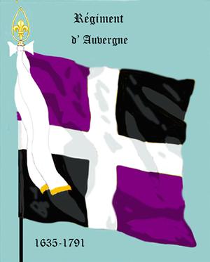 Régiment d'Auvergne - Régiment d'Auvergne's flag