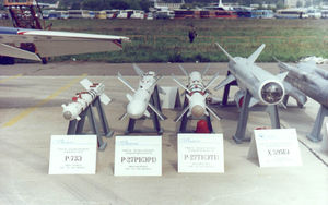 R-73 (missile) - Image: R 73E R 27R1 R 27T1 R 59ME