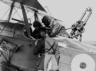 Royal Aircraft Factory R.E.8 - An R.E.8 crew are briefed before a mission