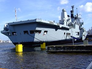 R07 HMS Ark Royal p8 IJ harbour, Port of Amsterdam.JPG