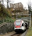 RABe 523 060 enters Aesch tunnel, Basle, Switzerland.jpg