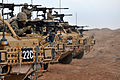 RAF Regiment Soldiers Line Up Jackal Vehicles on a Heavy Weapons Range in Afghanistan MOD 45153501.jpg