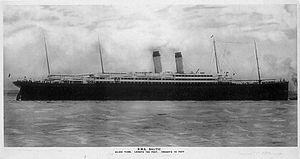RMS Baltic (1903) - Baltic at sea