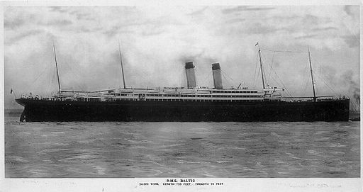 RMS Baltic postcard